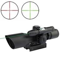 2 5 10x40 Rifle Scope Laser Green Sight Reflex Red Green Dual Illuminated Mil Dot Sight