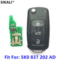 Car Remote Key For 5K0837202AD 5FA010180 02 For Beetle Caddy Eos Golf Jetta Polo Scirocco Tiguan