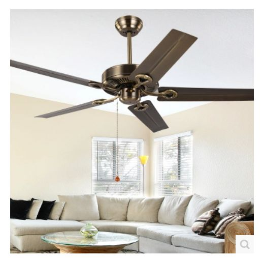 retro ceiling fans lighting 52inch continental retro ceiling fan without light leaf iron modern and simple