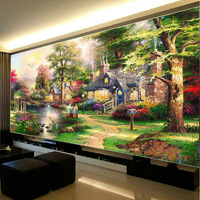 5D Diy Diamond Painting Dream Home Landscape Full Round Embroidery Diamont Paintings Cross Stitch Kits Home