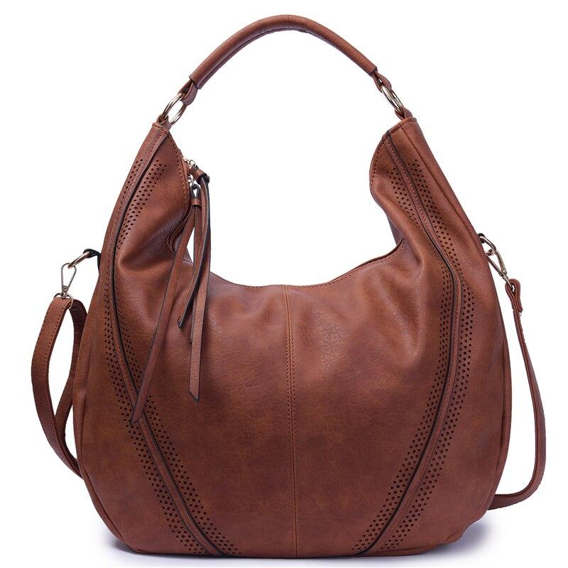 Womnen PU Leather Handbags Large Capacity Vintage Tote Bags