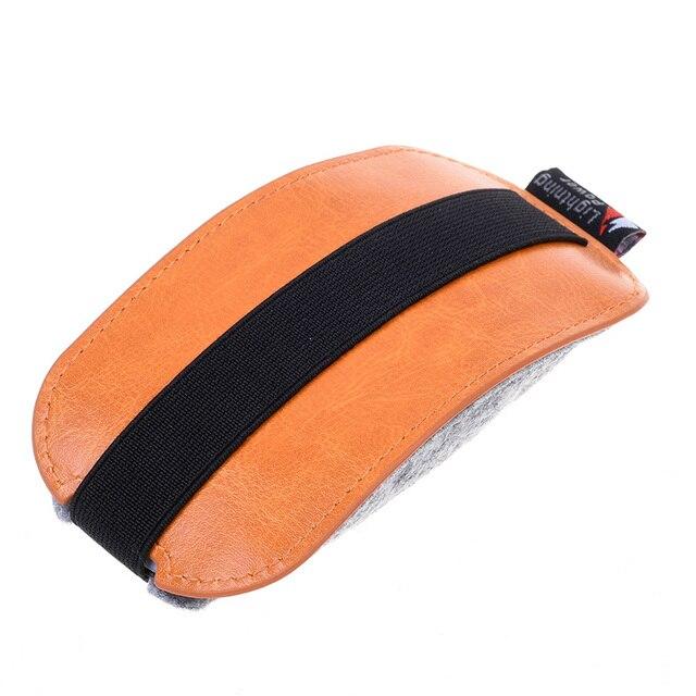 Arancione DELL'UNITÀ di elaborazione Del Mouse In Pelle Della Cassa Del Sacchett