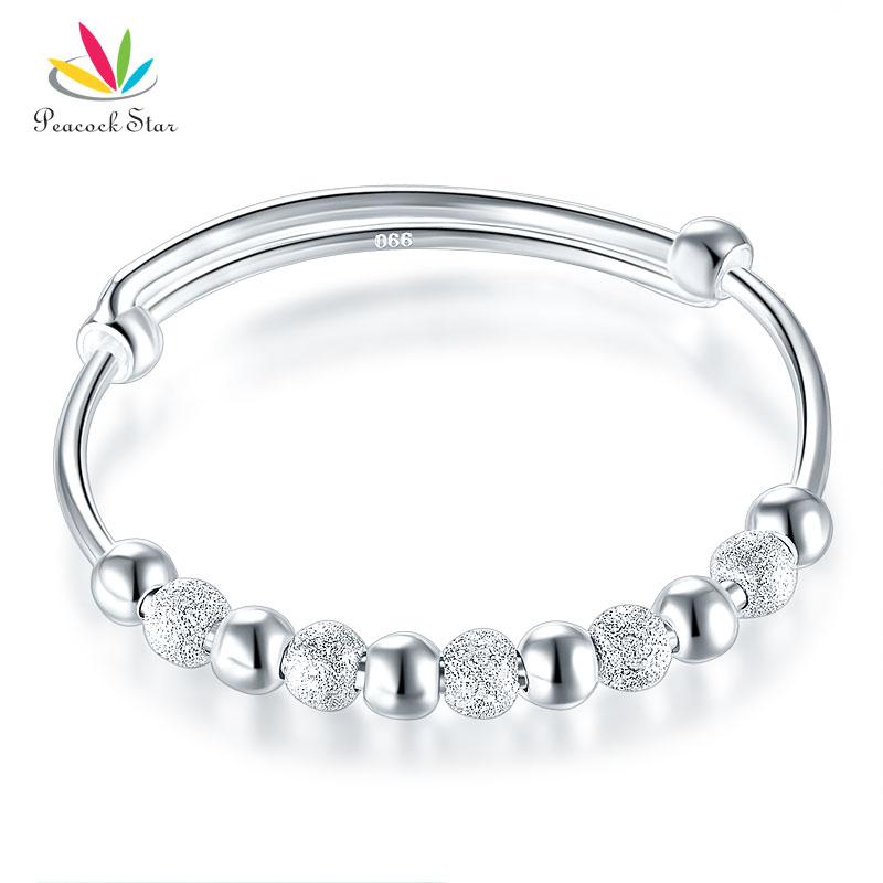 Solid 990 Silver Bangle Bracelet  Baby Kids Children Gift Adjustable Size CFB8001 пандора браслет с шармами