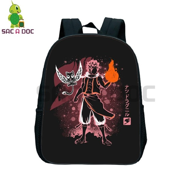 a5b62756f206 Anime Fairy Tail Fluorescence School Bag Natsu Happy Erza Toddler Backpack  Children Primary Kindergarten Backpack Best
