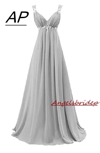 ANGELSBRIDEP Sweetheart Chiffon Evening Dress 2019 Junior Maid Of Honor Gowns Waist Beads Crystals Formal Imported