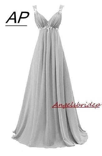 ANGELSBRIDEP 恋人シフォンのイブニングドレス 2019 ジュニアメイド名誉ガウンウエストビーズクリスタルフォーマルインポート · パーティードレス  グループ上の ウェディング & イベント からの イブニングドレス の中 1