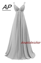 ANGELSBRIDEP Sweetheart Chiffon Evening Dress 2020 Junior Maid Of Honor Gowns Waist Beads Crystals Formal Imported Party Dress