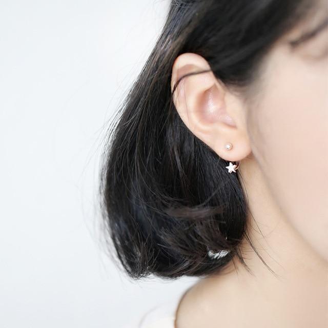 Newest Women Stars Earrings Korean Fashion Jewelry Female Handmade Stud Earring Ear Buckles For Gift