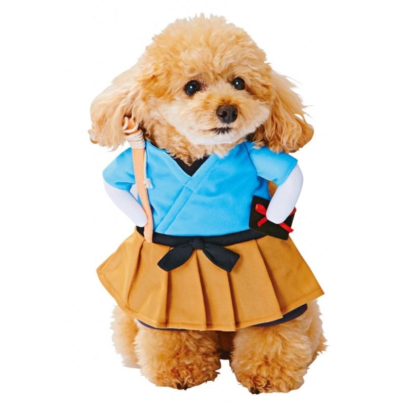 Pet Funny Clothes Cat Costume Uniform Suit Cat Clothes Puppy Cat Cosplay Clothes