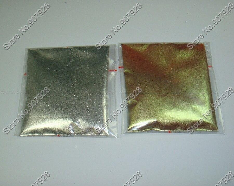 Серебро Золото Цвет волшебное зеркало эффект порошок Chrome пигмент алюминия порошок ногтей Блеск для УФ гель лак для ногтей и макияж DIY