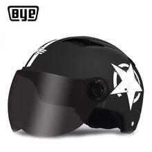BYE Motorcycle Helmet Full Face Unisex For Scooter Capacete Motocross Crash Helmet Riding Biker Motorbike Moto Helmet Clearance