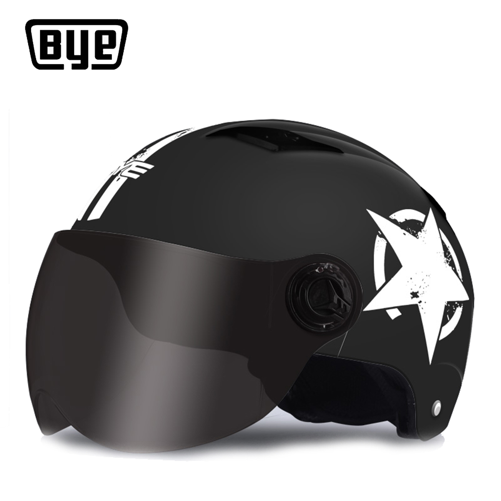 BYE Motorcycle Helmet Full Face Unisex For Scooter Capacete Motocross Crash Helmet Riding Biker Motorbike Moto Helmet Clearance