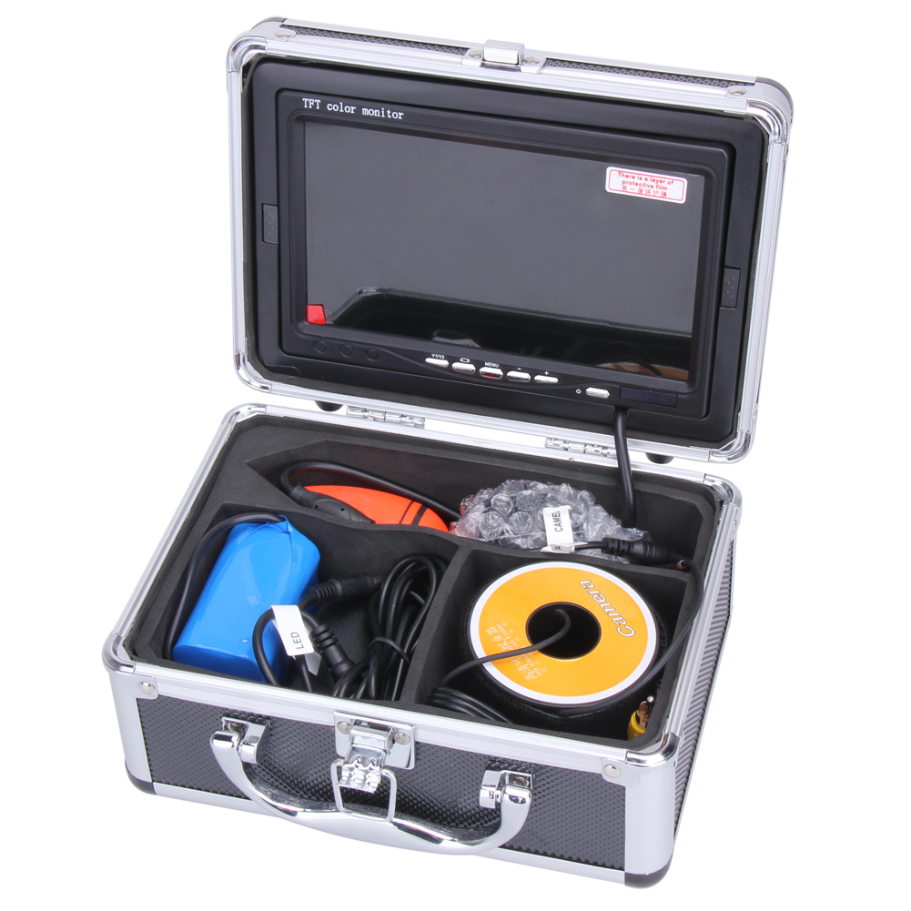 Professional Fish Finder 7 Inch LCD Monitor 1000TVL Camera Underwater Ocean Lake Sea Fishing Video Camera Monitor With Case underwater 30m 600tvl dvr av endoscope camera with 7 inch lcd monitor