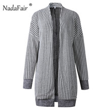 Open Stitch Vintage Plaid Knitted Cardigan