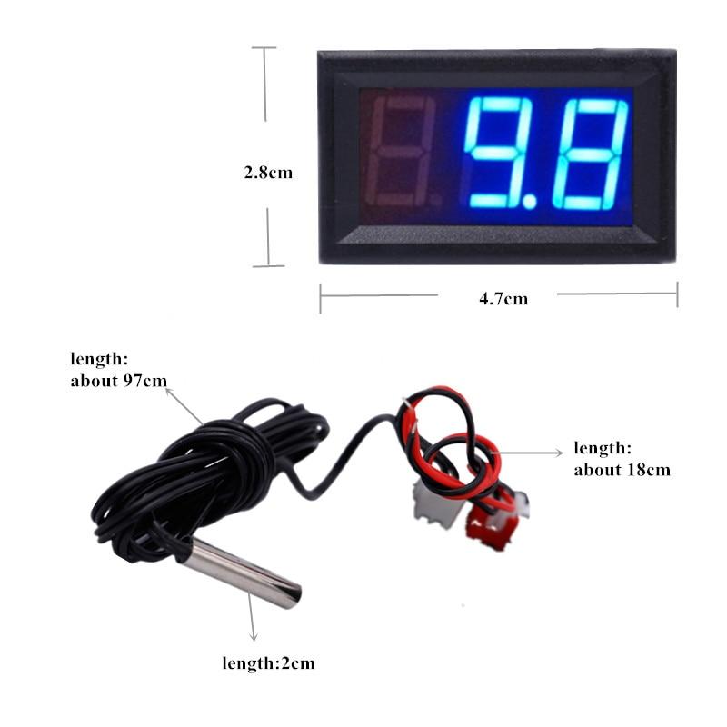 NOWY 12 V Cyfrowy termometr Tester monitorowania temperatury z - Przyrządy pomiarowe - Zdjęcie 2