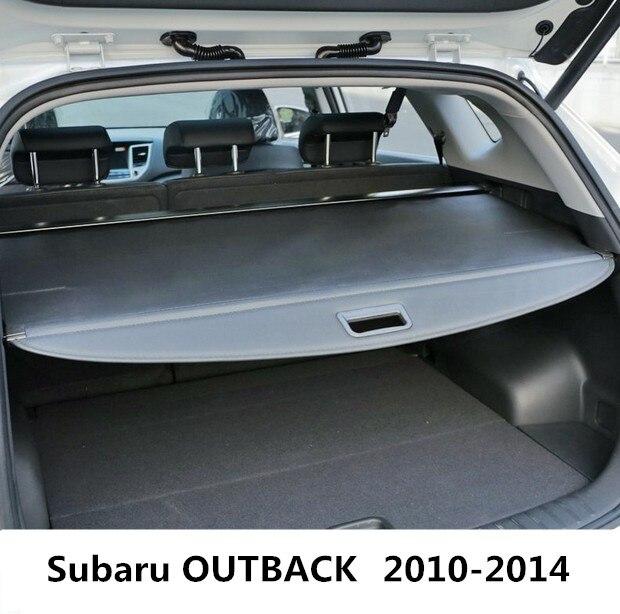 Автомобиль задний багажник щит безопасности Грузовой Обложка для Subaru OUTBACK 2010 2011 2012 2013 2014 Высокое качество Черный Бежевый авто аксессуары