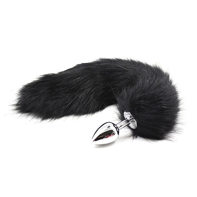 Sexy Toys Metal Fake Fur Fox Dog Tail Anal Plug Butt Plug BDSM Flirt Anus Plug For Women Adult Games Product For Couples