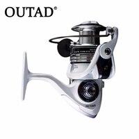 Outad 13 + 1ボールベアリングスピニング釣りリールcncフルメタル交換ハンドル用海水淡水スピニングリール