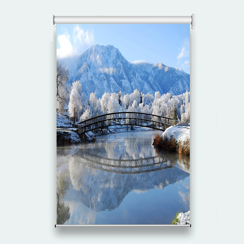 Snow scene 3D roller blinds Living room bedroom kitchen roller blinds for windows Customize any size     Snow scene 3D roller blinds Living room bedroom kitchen roller blinds for windows Customize any size