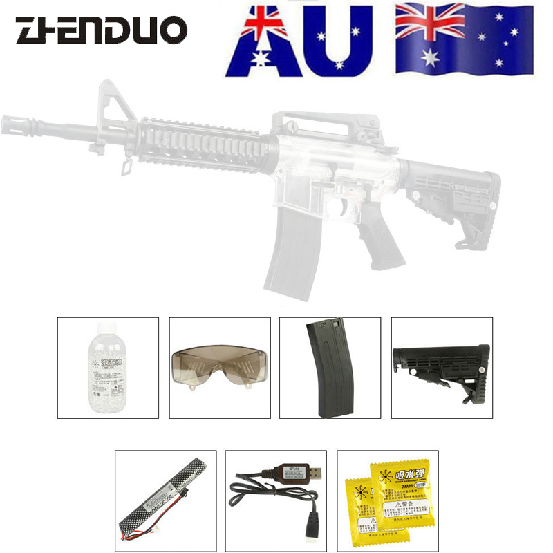 ZhenDuo Toys 1PC XWE M4 Mag- Fed Gel Blaster Ball Water Bullet Gun Toy Outdoor