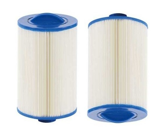 2pcs hot tub filter 205*150 (or 8'x6') with SAE THREAD 1 1/2' (3.8cm) spa pool filter image