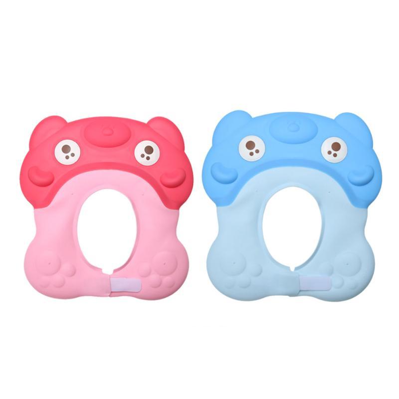 Adjustable Baby Shower Kids Cap Shampoo Shower Bathing Hair Washing Protector Cute Tpe Waterproof Bath Cap Baby Care Accessories