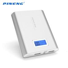 PINENG 18650 Power Bank 10000 мАч Портативный Внешний Аккумулятор Резервного Копирования Зарядное Устройство LCD Dual USB Powerbank для iPhone Xiaomi Samsung