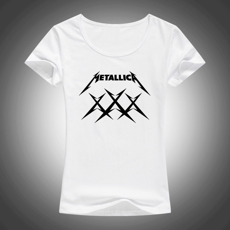 MeTallica T Shirts Frauen Schwere Thrash Metal Rock T-shirt Kurzarm Baumwolle Rock Band T-Shirt Camisetas F64