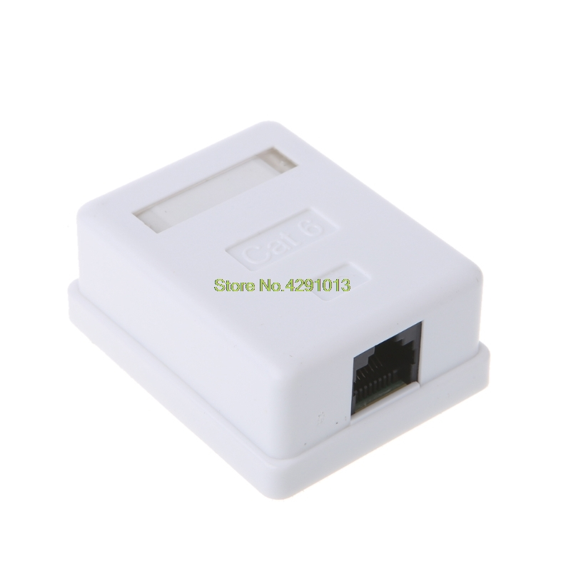 Cat6 RJ45 8P8C UTP Unshielded Single Port Desktop Mount Box Drop Shipping Support