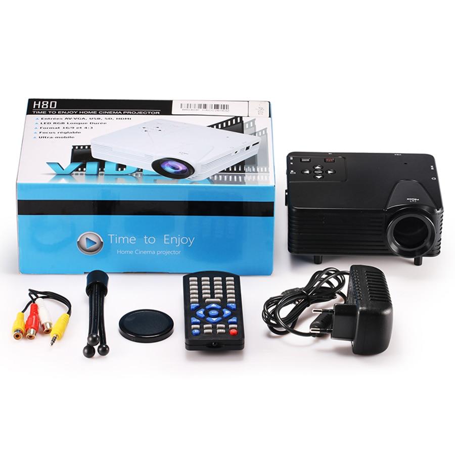 Crenova Mini Home Cinema Projector HDMI LED Game PC Digital Mini ...