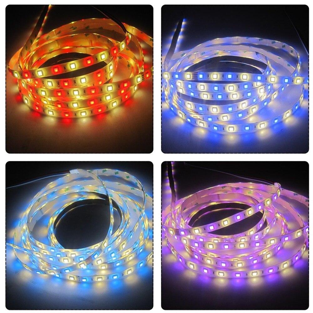 RGBW LED bande 300 LED s 16.4ft/5 m DC 24 V 72 W SMD5050 RGBW Super luminosité haute CRI Flexible bande LED Kit d'éclairage