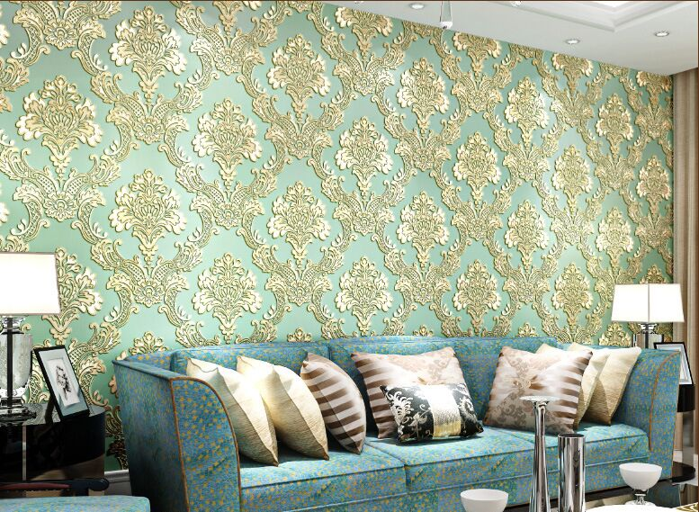 Classic Damascus Wallpaper European big flower Wallpaper 3D Mural Wall Roll for Living Room,Non Woven Wallpapers for Walls fashion normal simple wallpaper european line wallpaper 3d mural wall roll for living room non woven wallpapers for walls