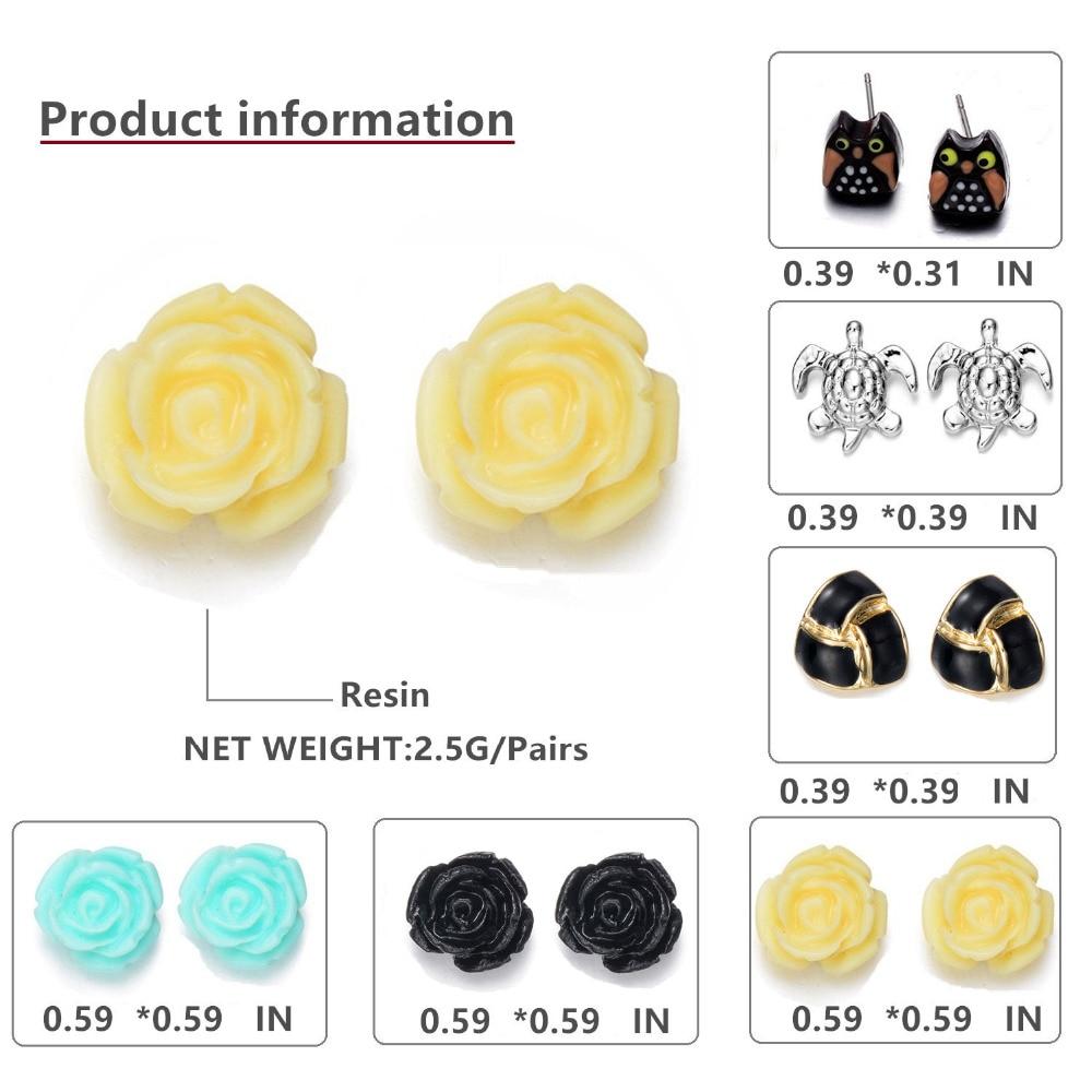 Onnea 15 Pairs Earrings Sets Enamel Rose Ball Stud Earrings For Women Hot Cute  Earring Sets Designer Earrings Fashion Jewelry
