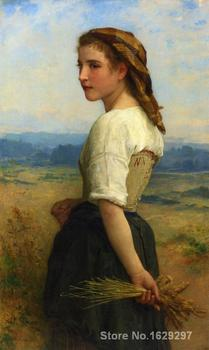 Art oil Painting Gleaners by William Adolphe Bouguereau High quality Handmade