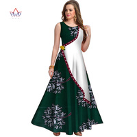 2019 African Print dresses for women Dashiki Dress Robe Casual African Print Ladies Indian Sexy Dresses Women Clothing WY3899