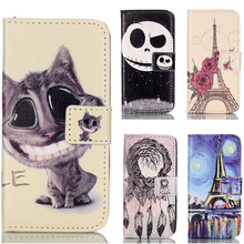 Lovely Cartoon Bear Cat Tower Tree Wallet style PU Leather Case for Apple iPhone 5S SE