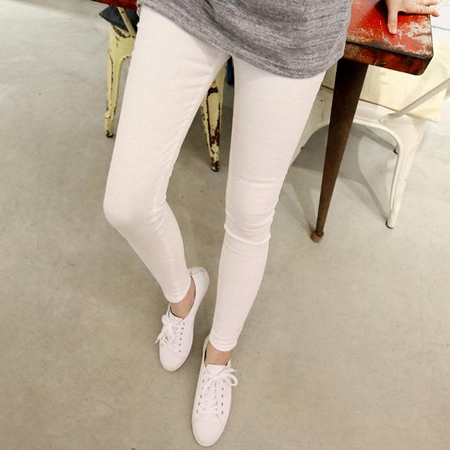 Maternidade Leggings calças roupas para grávidas mulheres de cintura alta cinto de algodão ajustável listrado gravidez calças para o verão