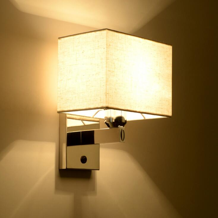 Modern minimalist bedside led bedroom reading wall lamp hotel room project lamp stainless steel wall lamp led fixture led lamps цена