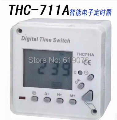 THC711A AC 220V 8A Digital LCD Power Programmable Timer Switch Time Relay