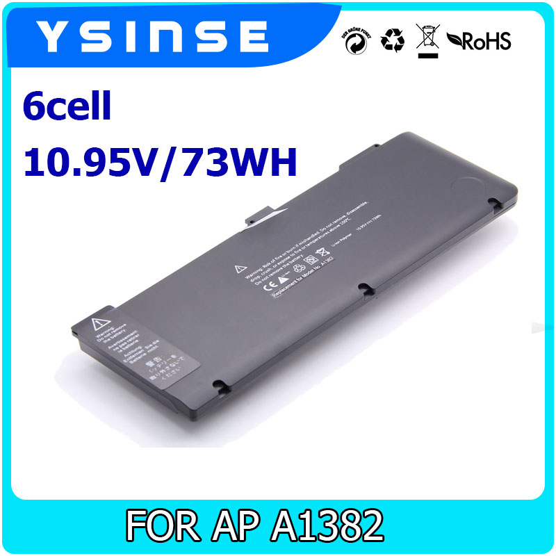 YSINSE Laptop Battery For Apple A1382 A1286 2011 2012 year MacBook Pro 15