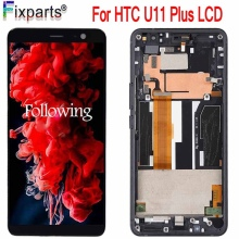 For HTC 2Q4D200 U11 Plus LCD Display Touch Screen Digitizer Panel Assembly Replacement 2880x1440 For 6.0