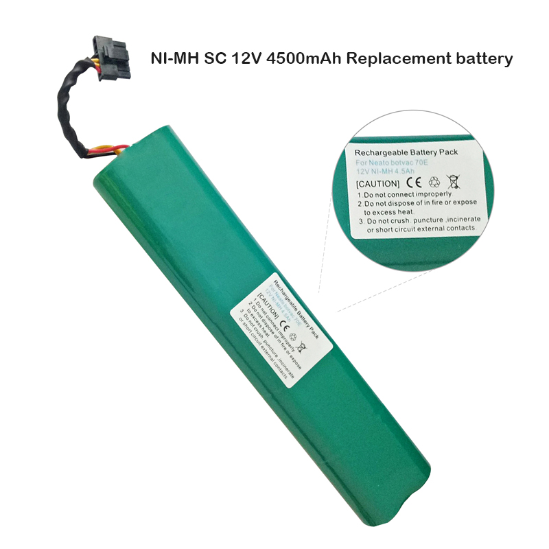 <font><b>12V</b></font> 4500mAh <font><b>4.5Ah</b></font> NI-MH SC <font><b>12V</b></font> New Replacement battery for Neato Botvac 70e 75 80 85 D75 D8 D85 Vacuum Cleaner battery parts image