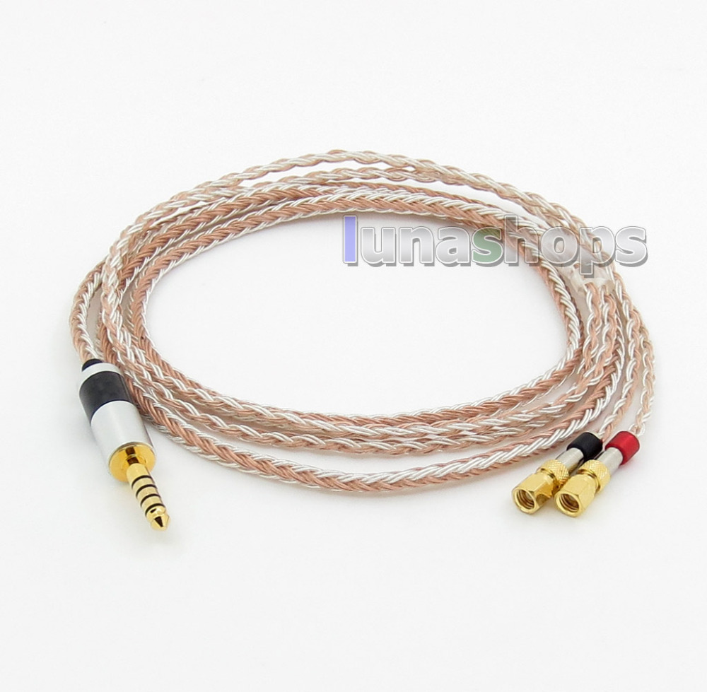 4.4mm Balanced 16 Cores OCC Silver Mixed Headphone Cable For HiFiMan HE400 HE5 HE6 HE300 HE560 HE4 HE500 HE6 LN005796 800 wires soft silver occ alloy teflo aft earphone cable for hifiman he400 he5 he6 he300 he560 he4 he500 he600 ln005405