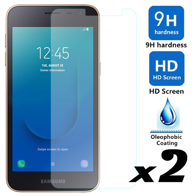 elegaming 2pcs Tempered Glass Screen Protector J2Core For Samsung Galaxy J2