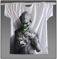[XHTWCY] Men Hot Sale Joker Heath Ledger T Shirt Vintage Movie Batman 2 The Dark Knight Rises Tshirts Custom Funny Print T Shirt