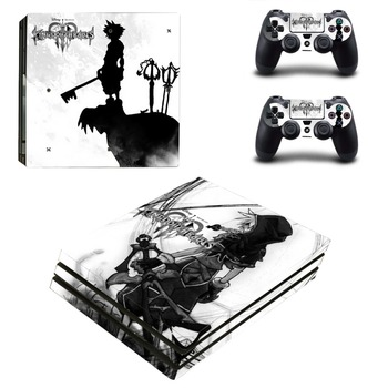 Game Kingdom Hearts PS4 Pro Skin Sticker Decal for Sony PlayStation 4 Console and 2 Controller PS4 Pro Skin Sticker Vinyl