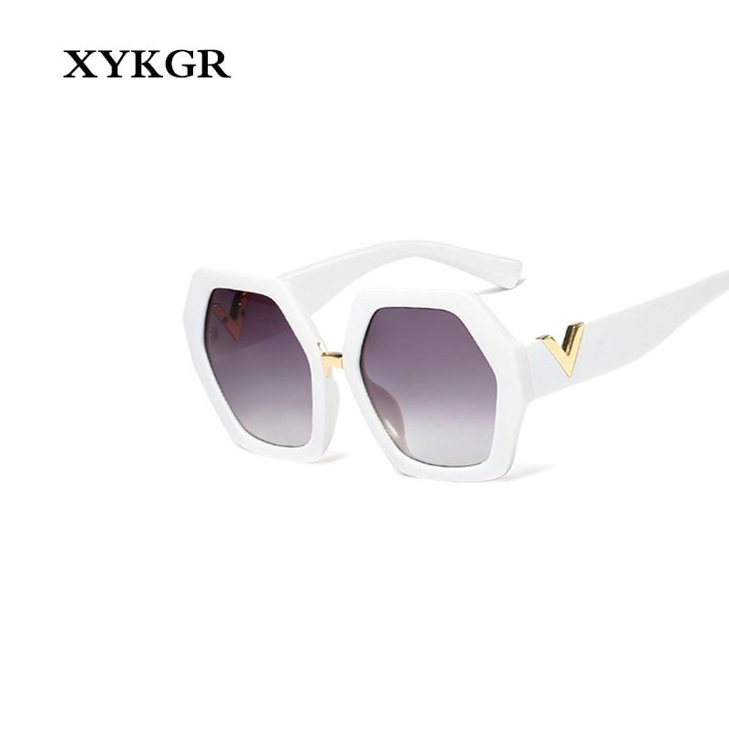 XYKGR fashion ladies irregular polygon sunglasses men 39 s retro sunglasses UV400 new women 39 s brand designer black red sunglasses in Women 39 s Sunglasses from Apparel Accessories