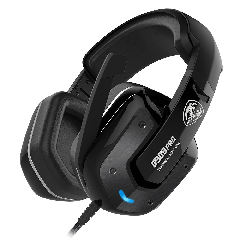 SOMIC G909PRO PS4 Vibration USB LED Gaming Noice Cancelling Headphone Stereo Headset Gamer 7.1 Surround Sound Earphones somic g910i gaming headset 7 1 surround sound vibration usb with mic bass headphone led light big earphones for computer ps4 pc