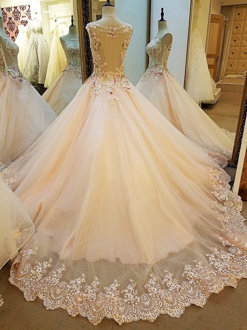 Latest Party Gowns Designs Abendkleider Lang Lace Ball Gown Sexy