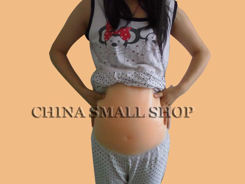 Free shipping New deign 1000g 2-3 month Surrogate tool Female supplies silicone fake belly pregnancy Pros silica gel skin belt huangshan 1000g page 3